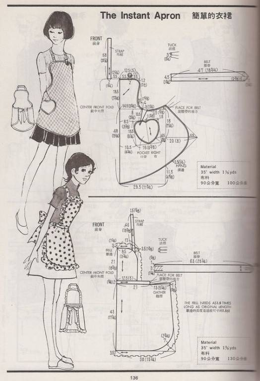 Как сшить фартук (86 фото) школьный, детский для кухни своими руками   выкройка фасонов и моделей фартука и передника