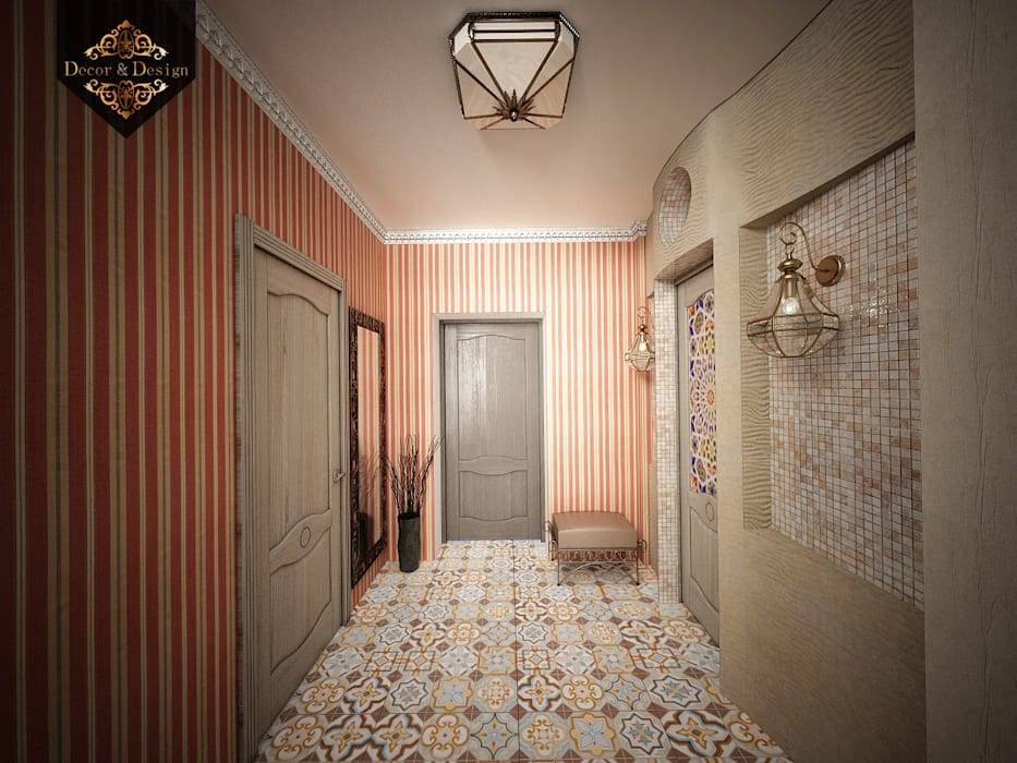 Обои в прихожую под темные двери: 75 фото идей дизайна