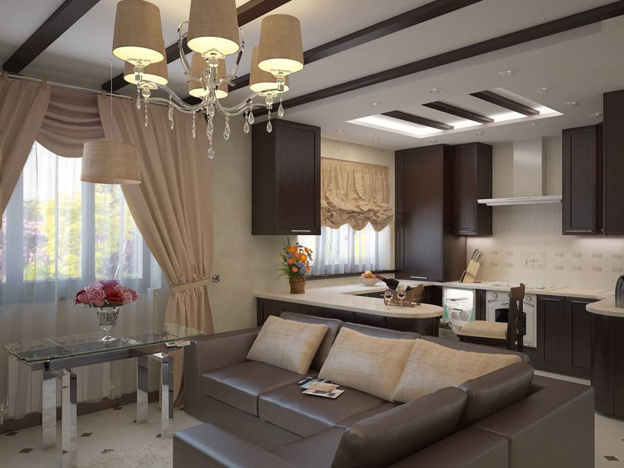 Дизайн проект кухни-гостиной: как провести зонирование и выбрать стиль - 34 фото