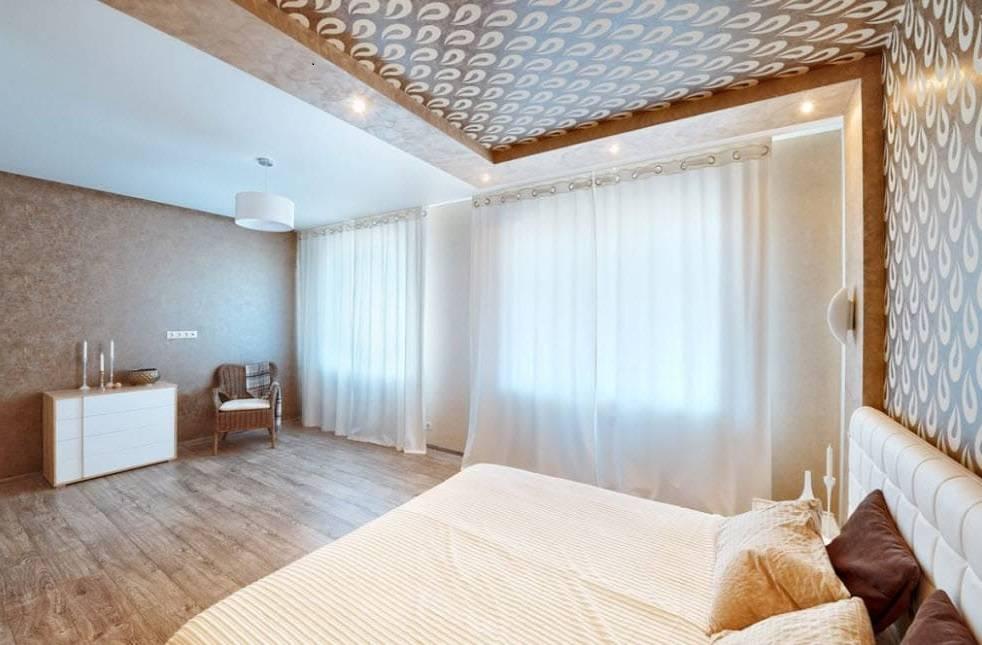 Двухуровневый потолок в спальне - 100 фото красивых идей дизайна