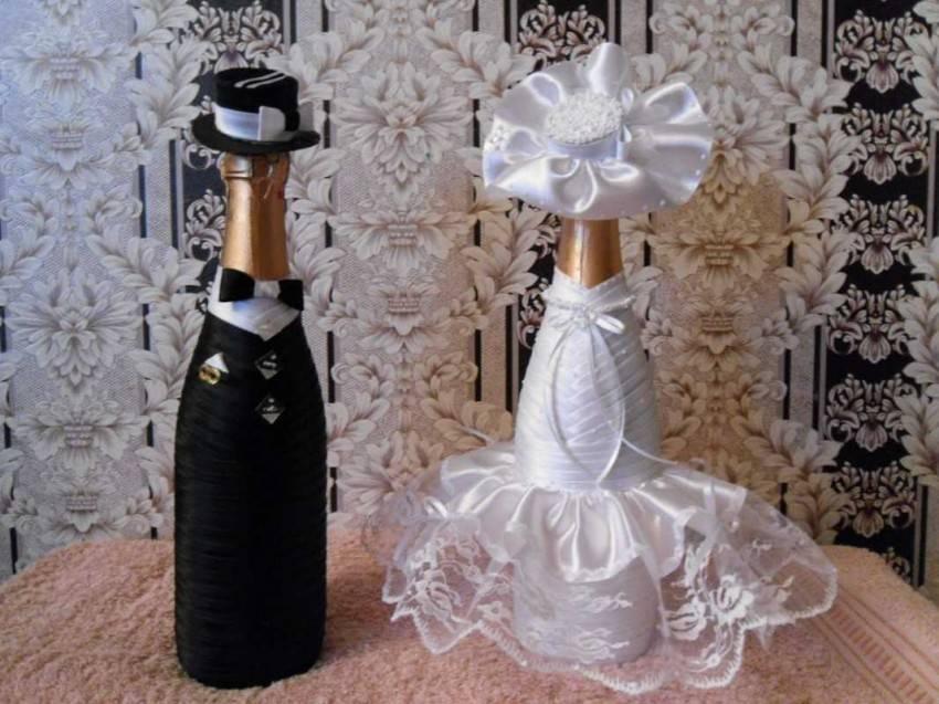Свадебное шампанское своими руками, мастер-класс
