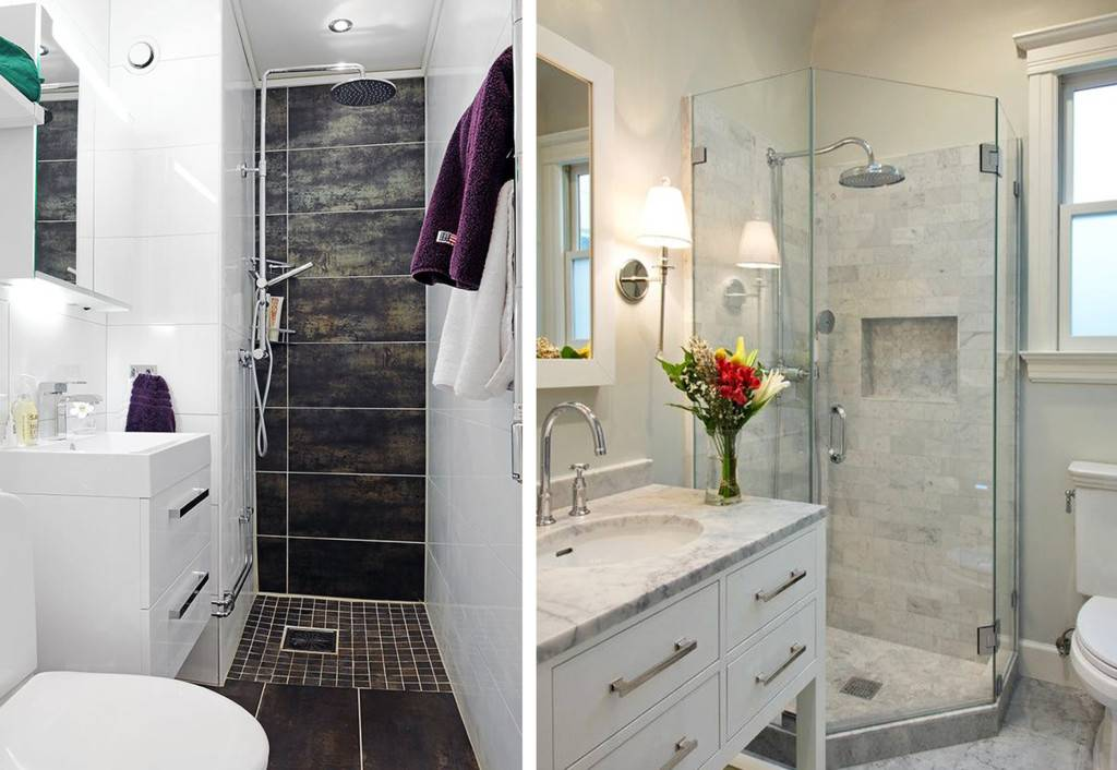 Ванная комната с душевой кабиной  - 5 основных стилей и множество идей