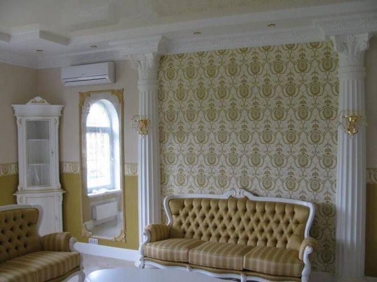 Молдинги на стенах в интерьере квартиры — 20 фото