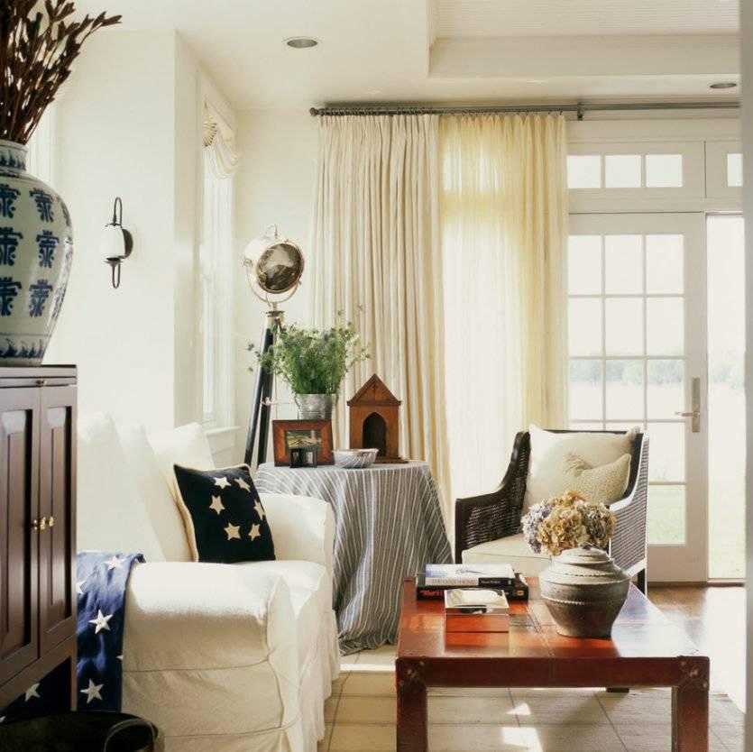 Оформление окна в гостиной: 25 наглядных примеров + полезные рекомендации дизайнера по украшению окна