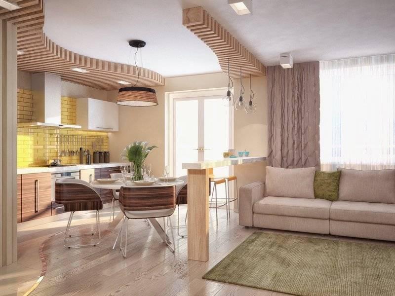 Кухня, совмещенная с гостиной: 60 фото и идеи дизайна интерьера
