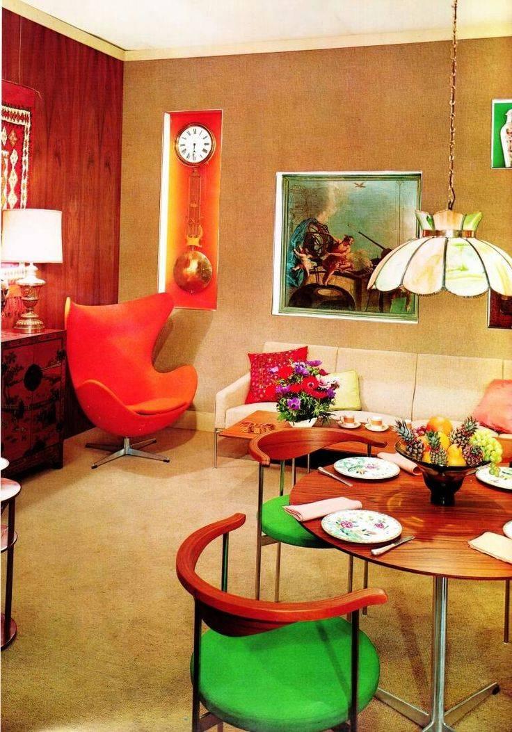 Стиль 60-х годов в интерьере (46 фото): выбираем мебель для квартиры, кабинет и кухня, гостиная и туалет в стиле ссср