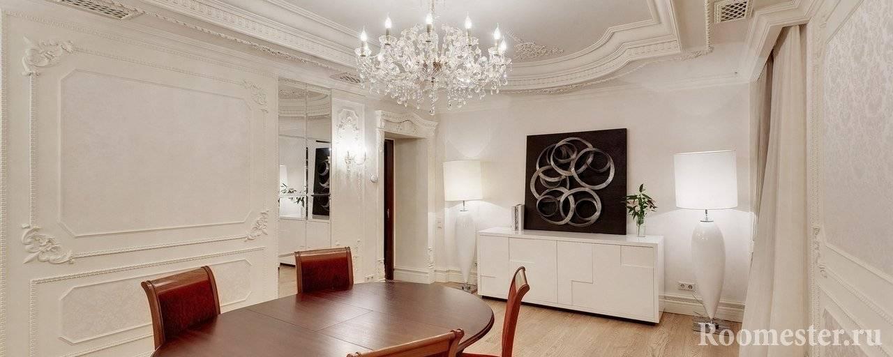 Лепнина на стенах в интерьере квартиры: фото и советы профессионалов