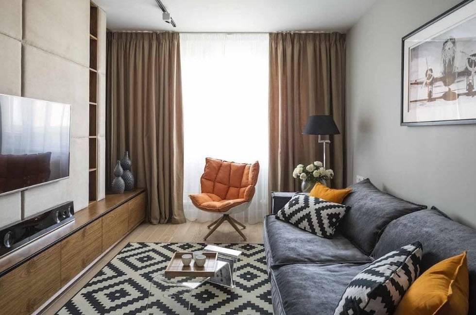 Правила оформления дизайна небольших гостиных площадью 12 кв м