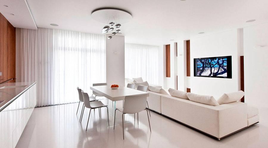 Гостиная в стиле минимализм: 50 фото, идеи дизайна