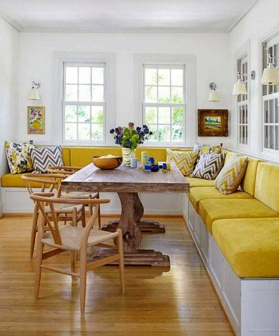 Дизайн кухни с диваном: 106 стильных интерьеров в реальных фото