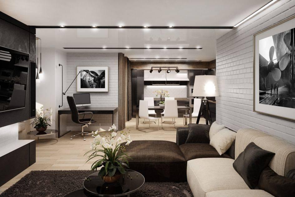 Дизайн однокомнатной квартиры: 100+ современных интерьеров на фото