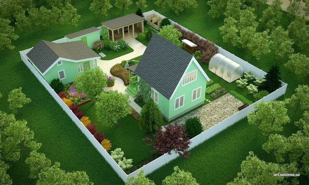 О планировании участка на 8 сотках — проекты ландшафтного дизайна