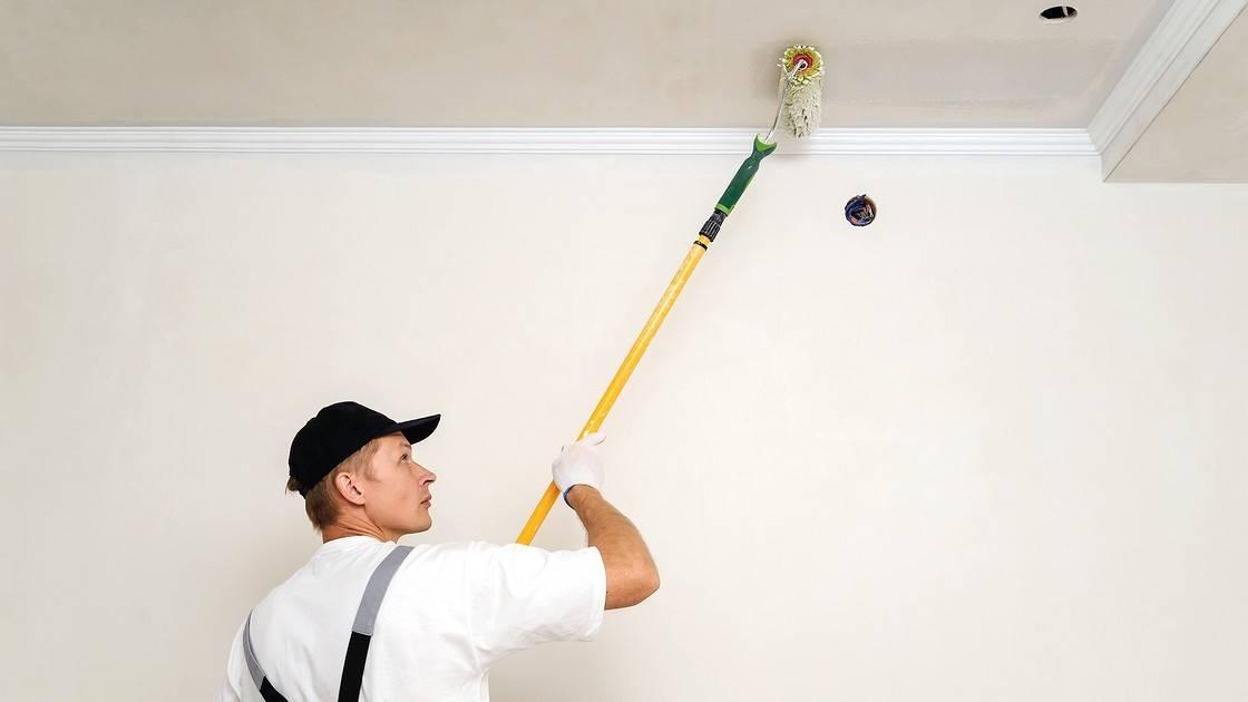 Краска для потолка на кухне какая лучше, потолочная покраска, советы начинающим