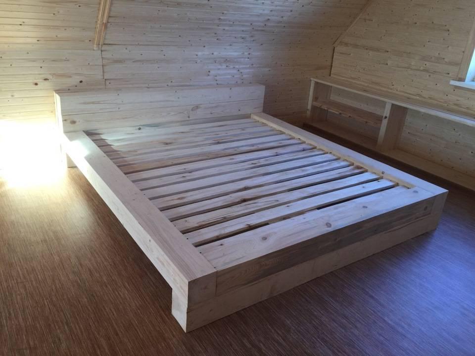 Кровать своими руками из дерева: сборка, чертежи и ход работы, схемы и проекты, эскиз изготовления в домашних условиях кровати из дсп, двуспальной и детской