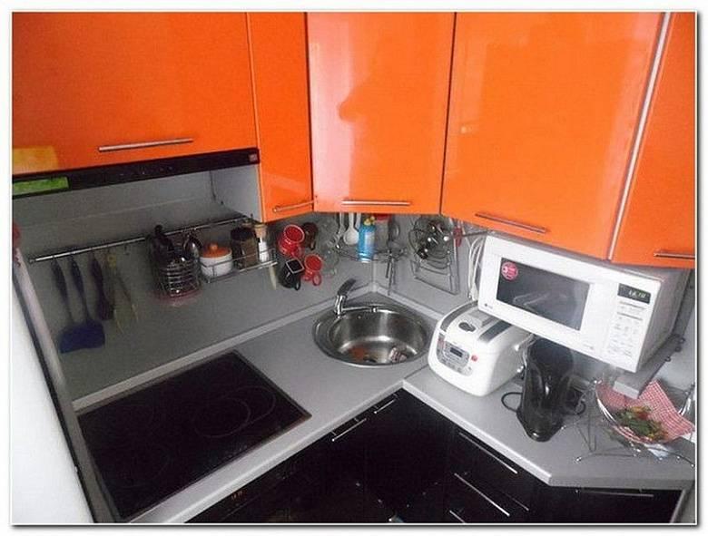 Угловая кухня в хрущевке, планировка и дизайн - фото примеров