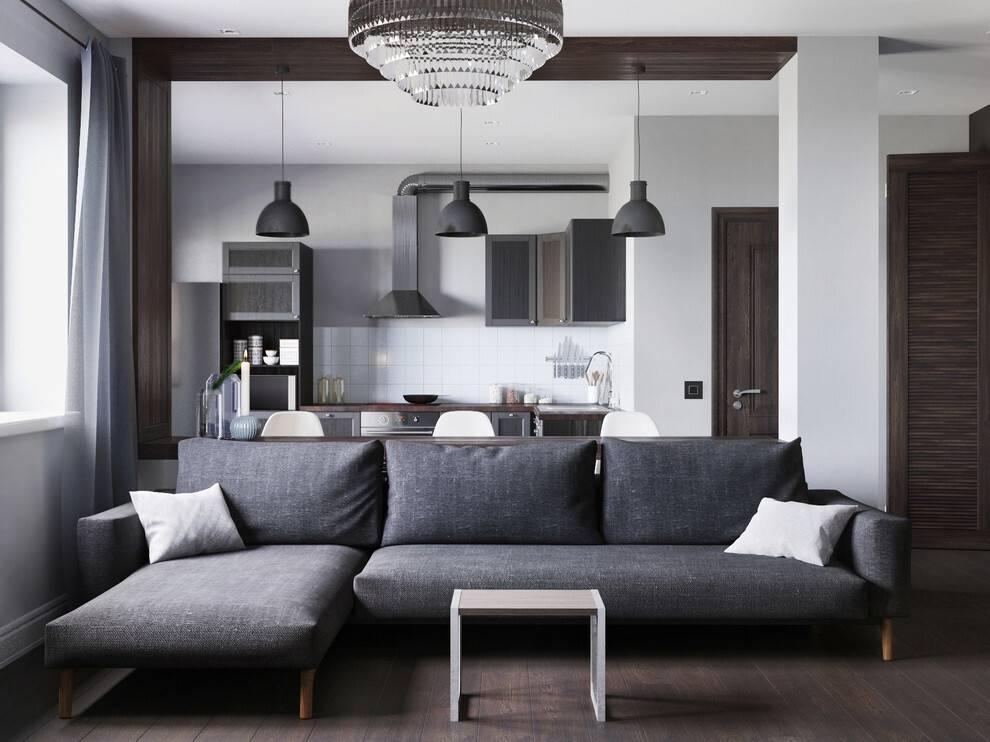Интерьер однокомнатной квартиры 35 кв.м - 45 фото дизайнов