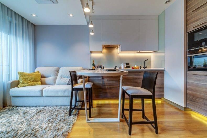 Дизайн прямоугольной гостиной комнаты 17 кв м, спальни с гардеробом  - 37 фото