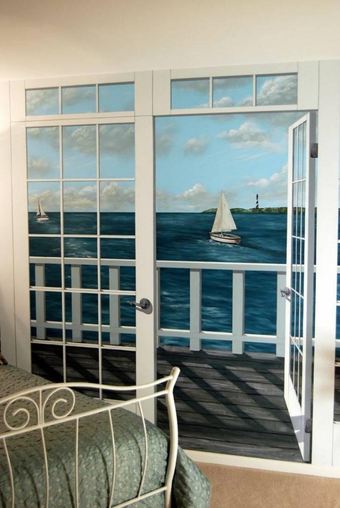Межкомнатные окна, примеры использования - 35 фото