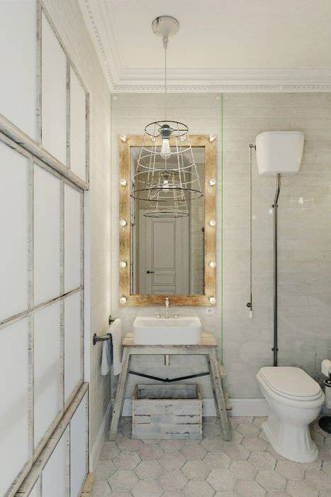 Особенности дизайна туалета в стиле лофт