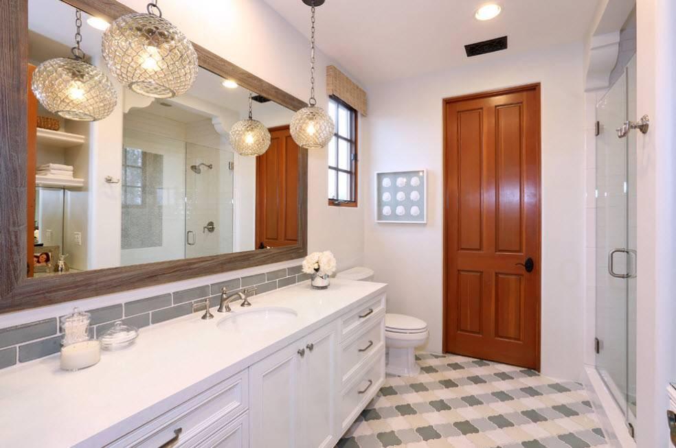 Освещение в ванной комнате: как организовать свет в ванной (+ фото)