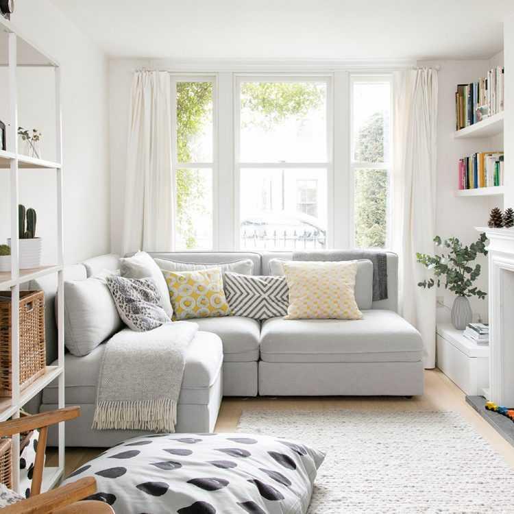 Диван посередине комнаты дизайнерские решения. современный интерьер гостиной с угловым диваном. возможно вам также будет интересно