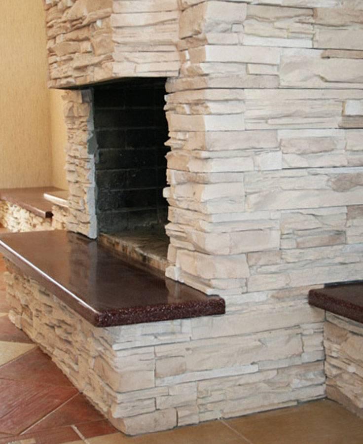 Современная отделка камина