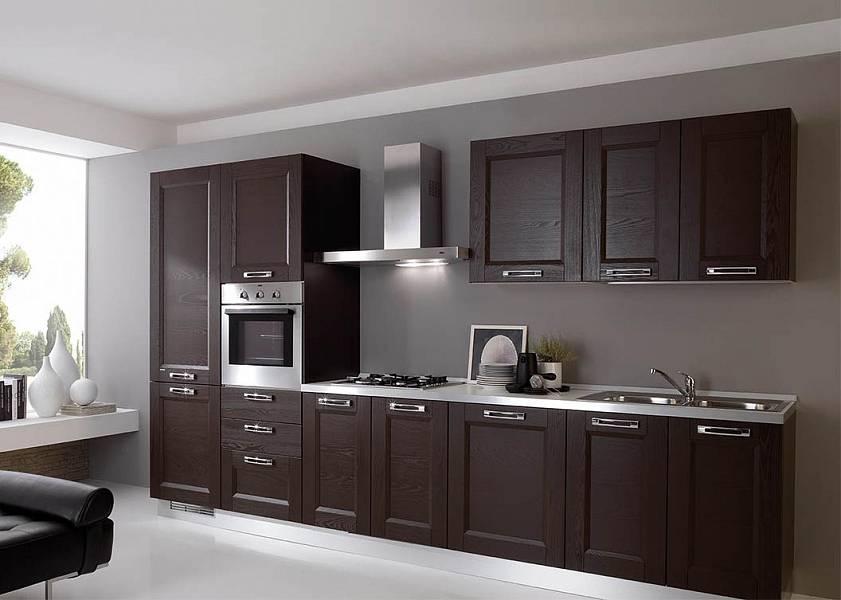 Кухня цвета венге: сочетание кухонного гарнитура цвета венге с белым и другими тонами в дизайне интерьера кухни