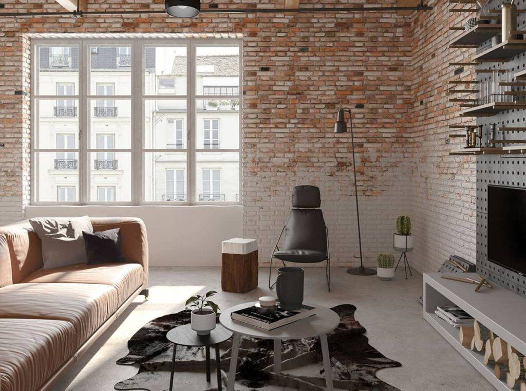 Дизайн кухни с кирпичной стеной — какой материал выбрать декоративный или натуральный