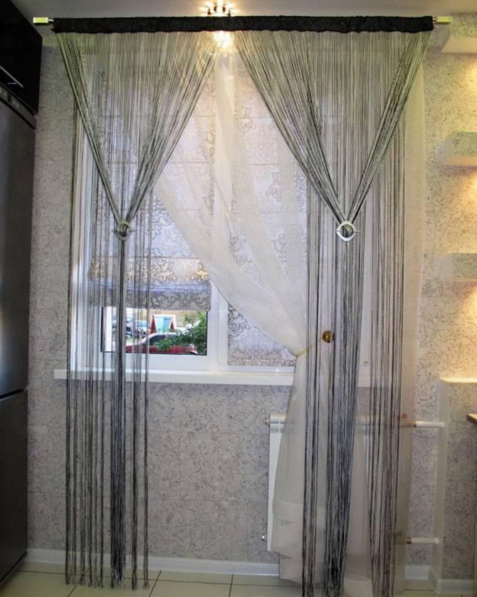 Нитяные шторы - разновидности штор и их различия и цветовая палитра. варианты оформления в интерьерах разных стилей. 130 фото + видео примеры