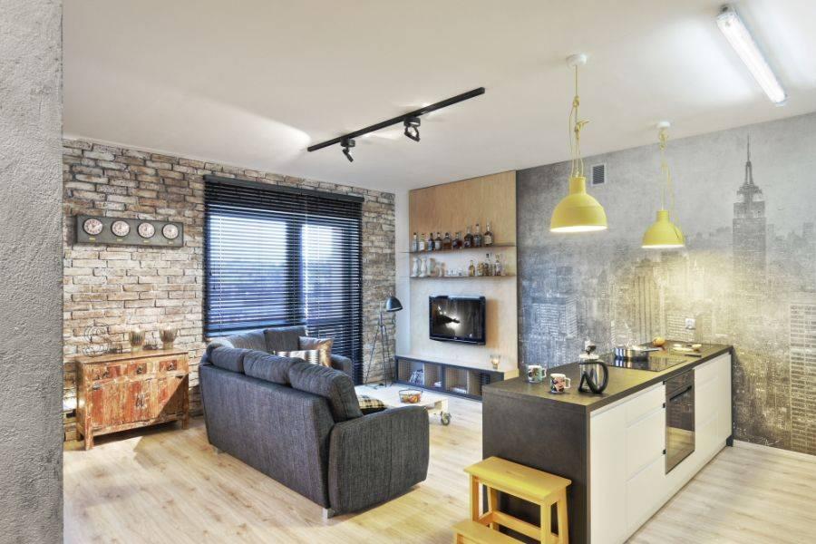 Примеры дизайна кухонных помещений в стиле лофт
