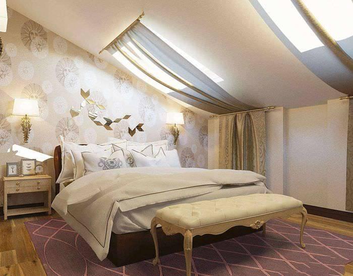 Двухуровневый потолок в спальне — лучшие варианты дизайна (100 фото идей)