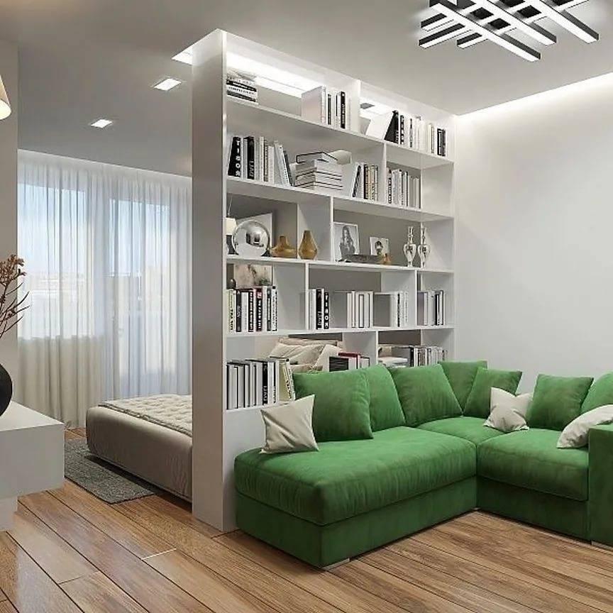 Спальня и гостиная в одной комнате: 108 фото идей зонирования   «покажу»
