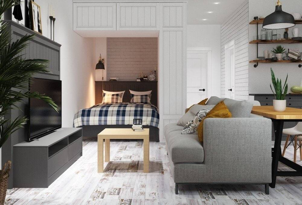 Квартира-студия 30 квадратных метров: планировка, фото, дизайн