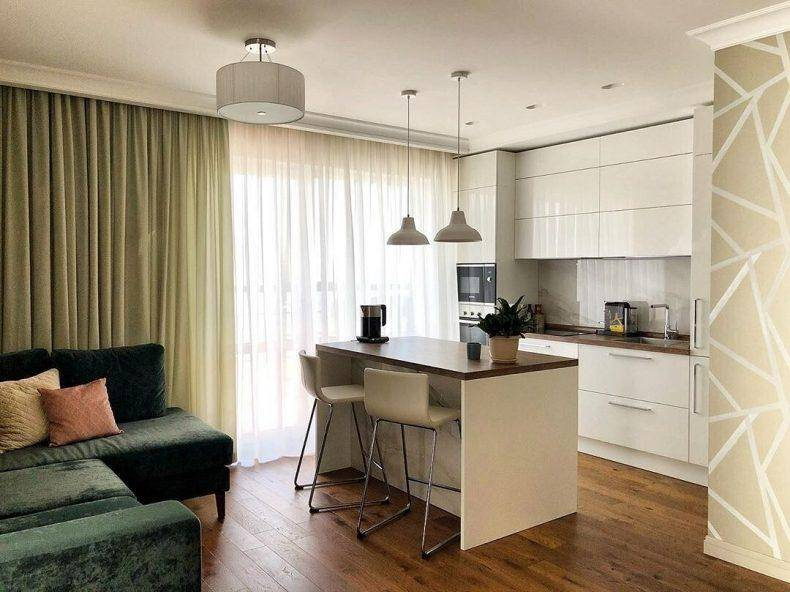 75 свежих идей дизайна кухни-гостиной 20 кв.м (реальные фото)