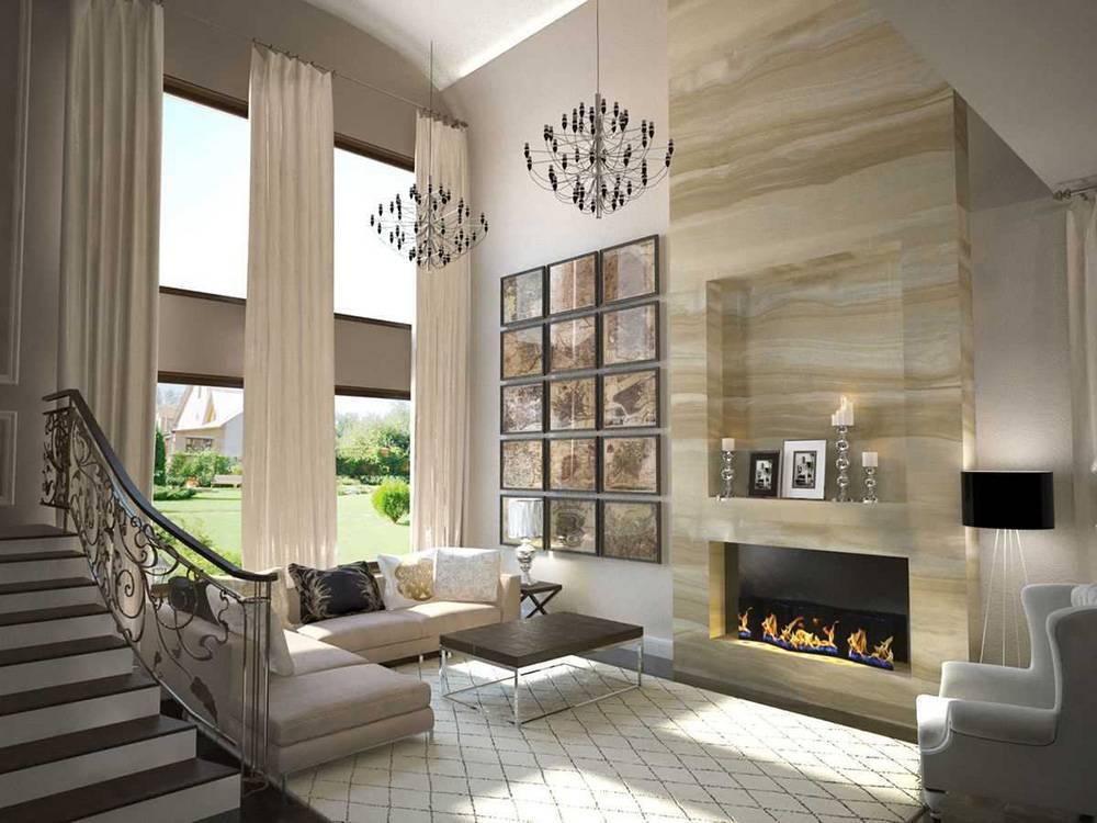 Интерьеры современных загородных домов и коттеджей: проекты | 36 фото и рисунков | фото дизайнов интерьера 2020