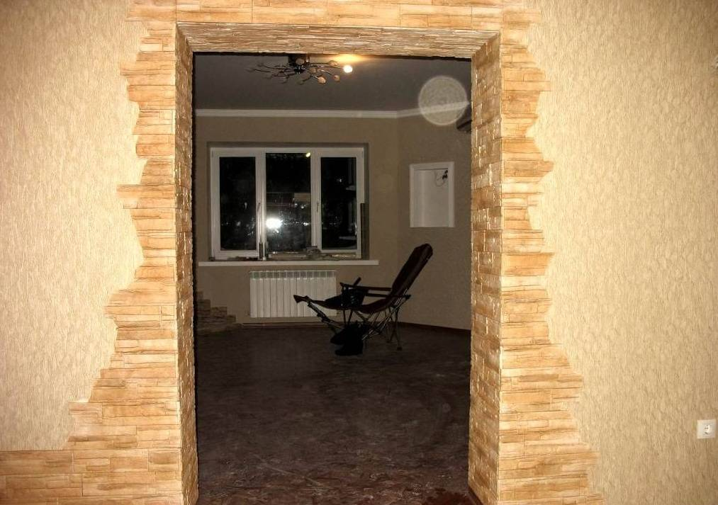 Отделка арки декоративным камнем +50 фото примеров