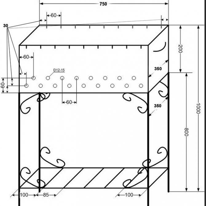 Как сделать мангал своими руками - постройка стационарной и переносной жаровни