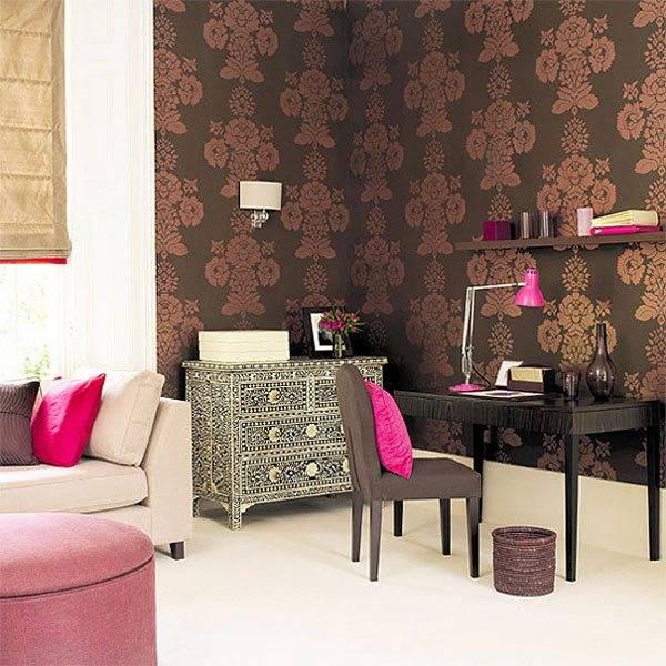 Обои: дизайн комнаты с обоями, как соединить разные обои на одной стене, вставка - 11 фото