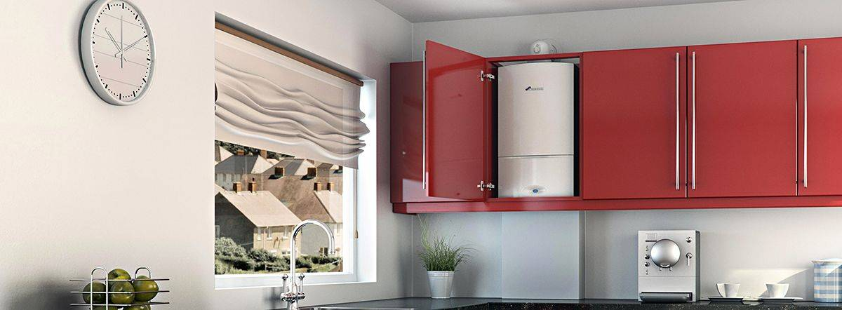 Дизайн кухни с газовым котлом: как спрятать его на кухне