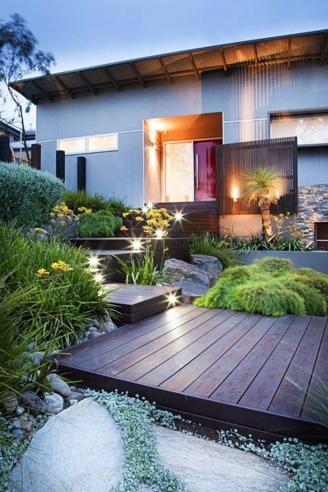 Дизайн двора частного дома: особенности оформления