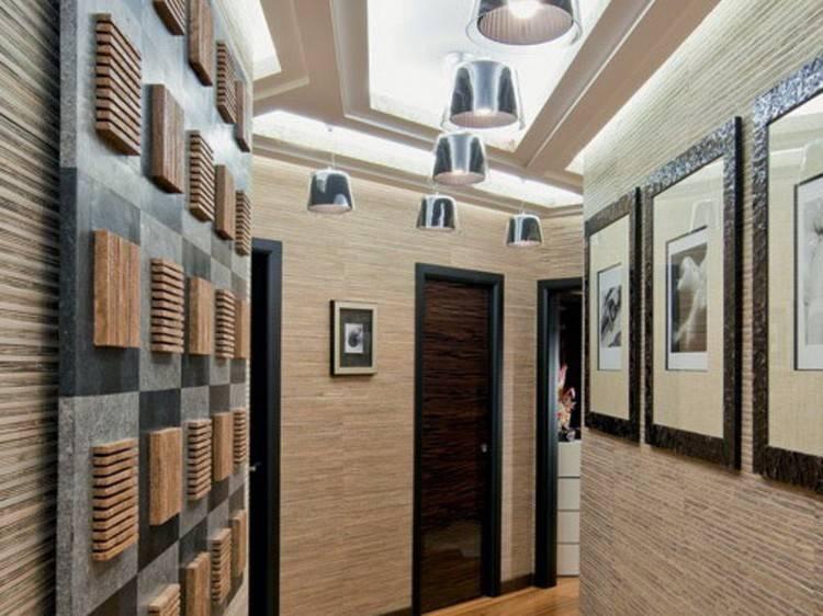 Дизайн стен в прихожей и коридоре: 100 фото, материалы и варианты отделки