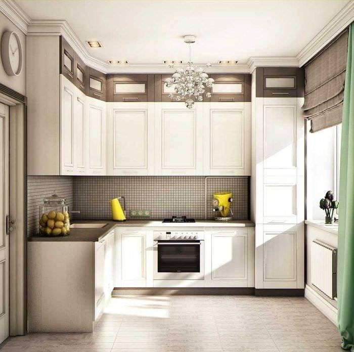 Дизайн кухонь 9 кв. м после ремонта в типовой квартире