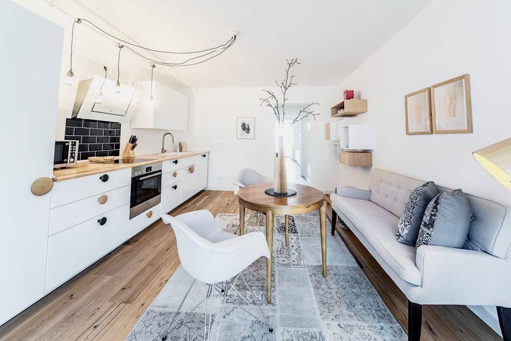 Как лучше разместить диван в интерьере кухни: угловой, полукруглый и модульный