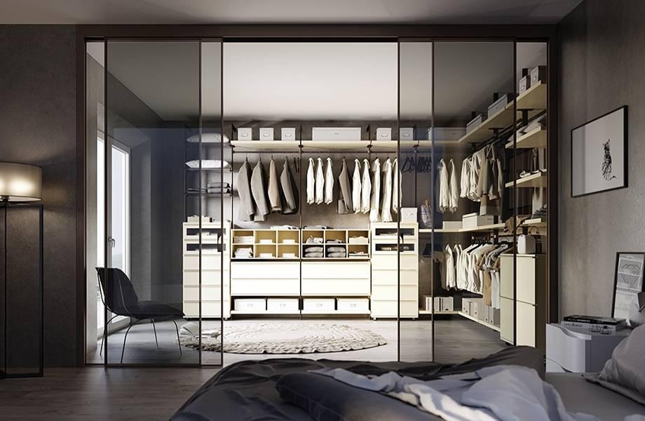 Обустройство гардеробной в спальне: наиболее удачные приемы