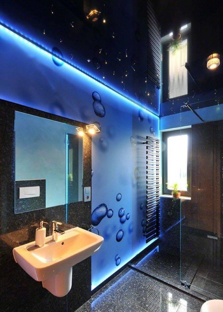 Выбираем натяжной потолок для монтажа в ванной комнате— советы, характеристики, плюсы и минусы