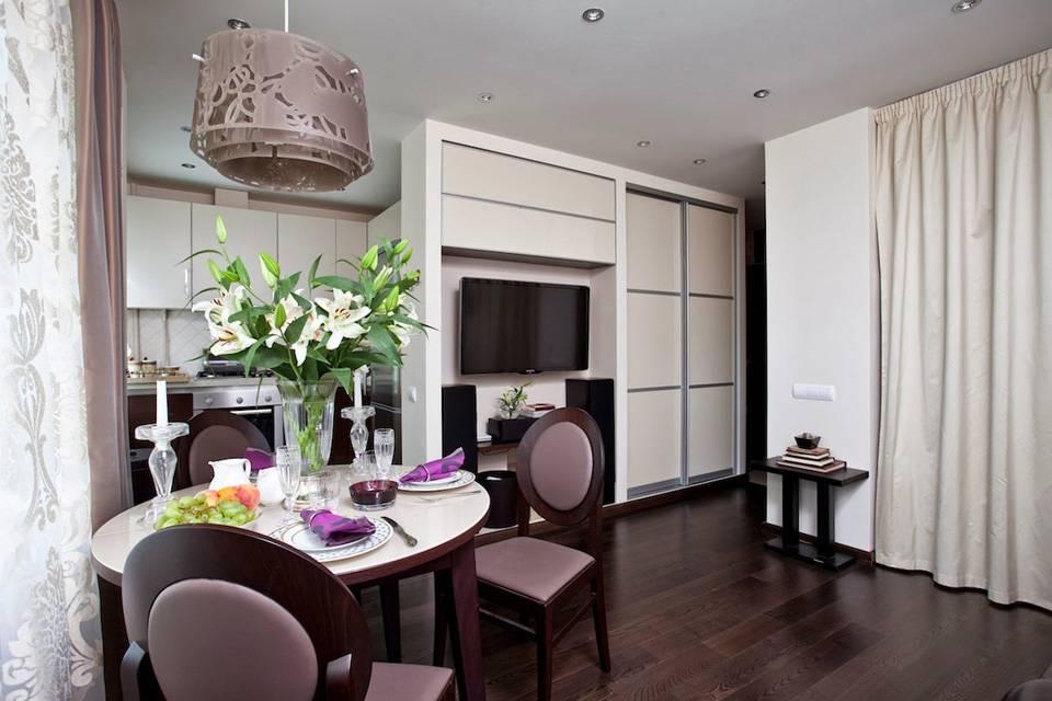 Дизайн квартиры 40 кв. м. 80 фото однокомнатной студии