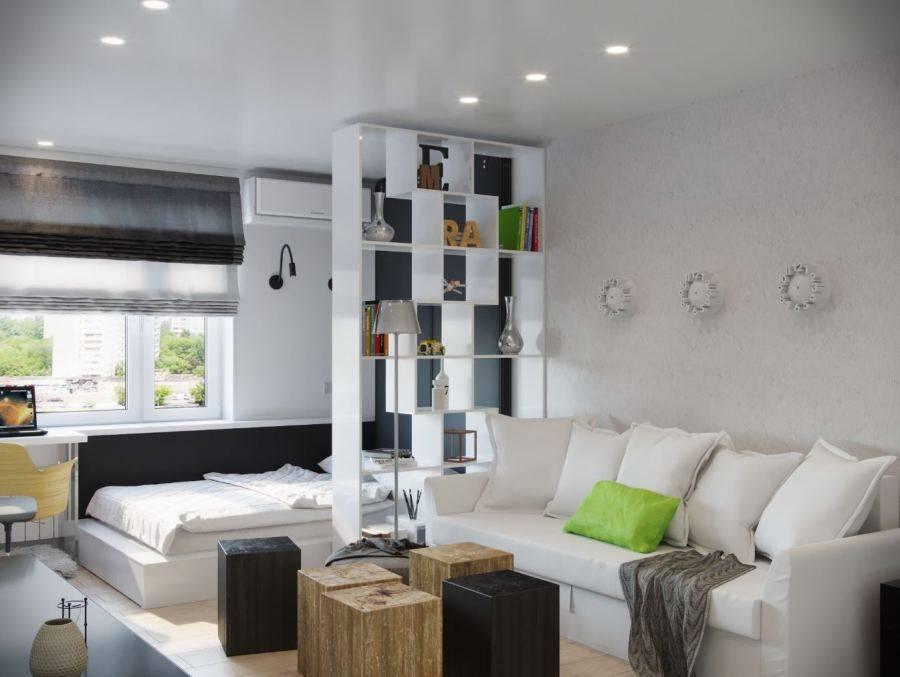 Дизайн спальни-гостиной: 18 готовых проектов – 45 фото
