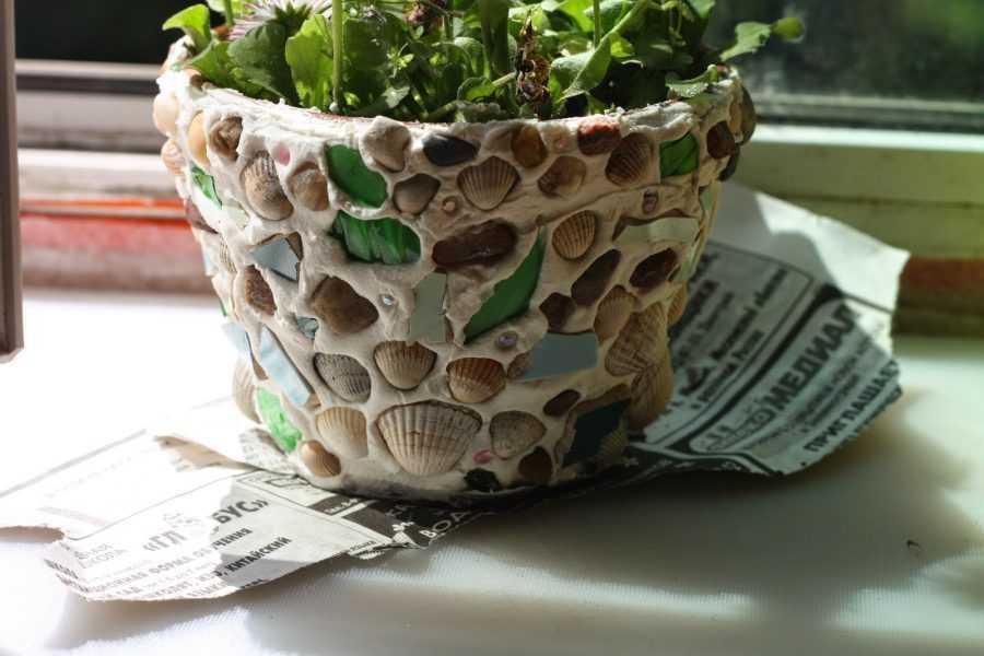 Декор цветочных горшков своими руками - 83 фото идеи и пошаговый мастер-класс