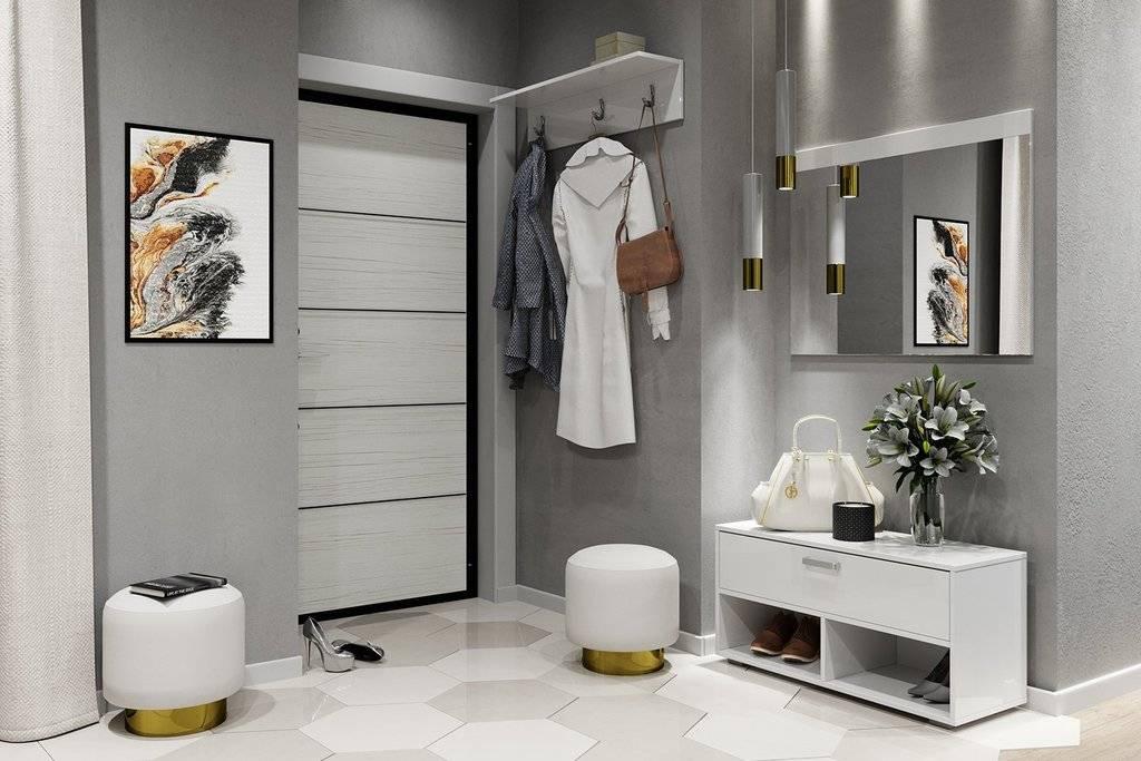 Дизайн маленькой прихожей: мебель в современном стиле, интерьер коридоров со шкафом  - 39 фото