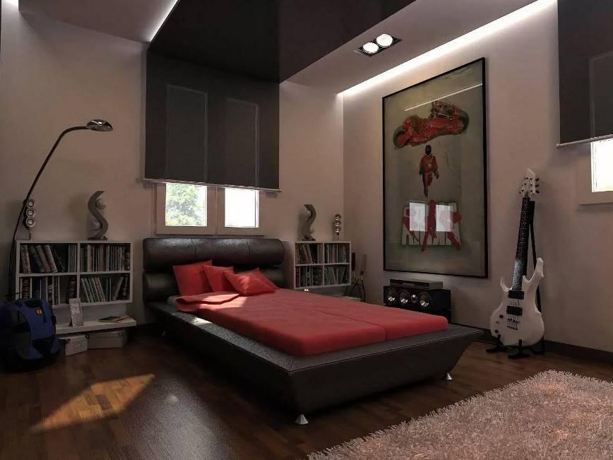 Дизайн комнаты для молодого человека в современном стиле